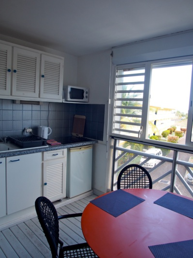 La cuisine sur la terrasse